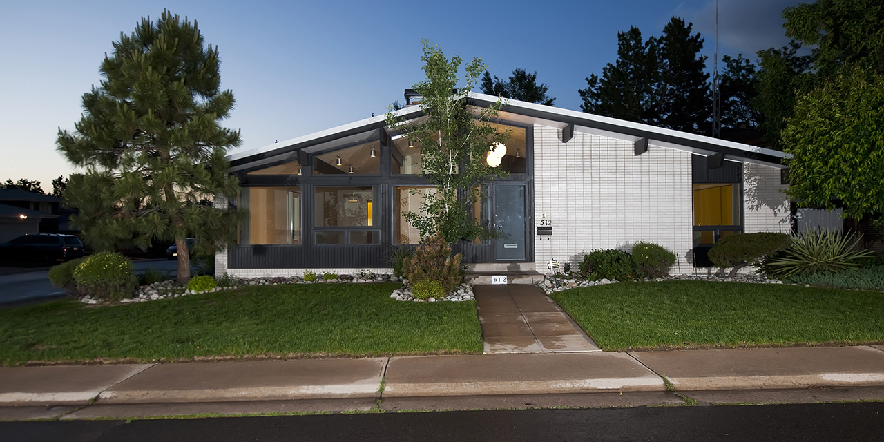 Modcoho modern colorado homes for Mid century modern homes denver